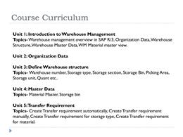 SAP WM Online Training pptx PowerPoint Presentation PPT